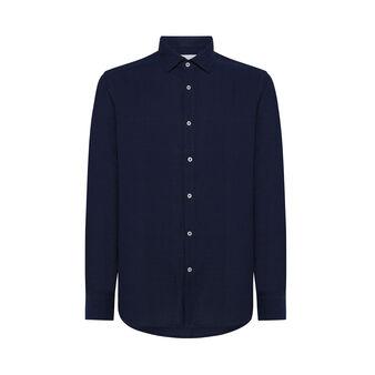 Luca D'Altieri cotton and linen blend shirt