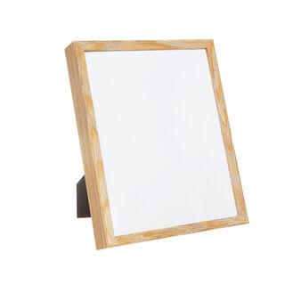 Brushed wood photo frame
