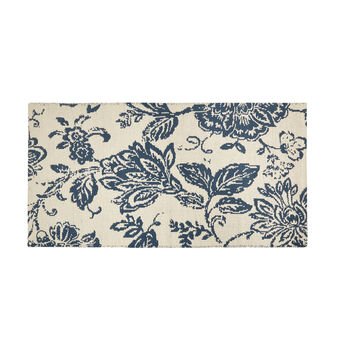 Cotton jacquard mat with flowers