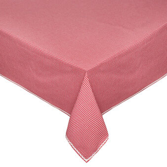100% cotton micro check patterned tablecloth
