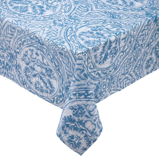 100% cotton tablecloth with damask print