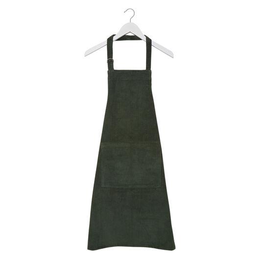 Solid colour cotton corduroy kitchen apron