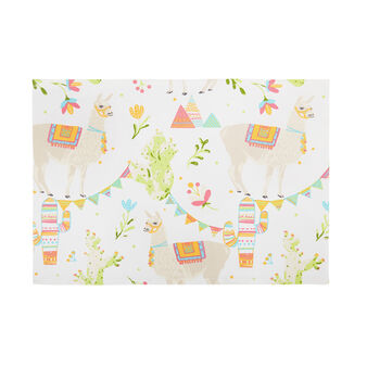 100% cotton table mat with lama print