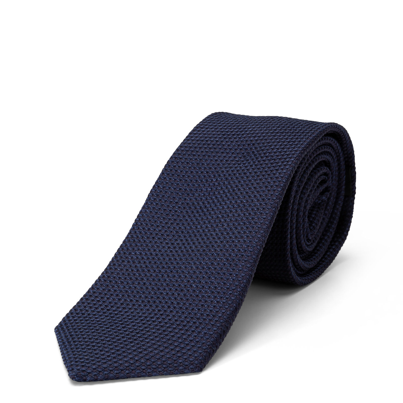 Solid color pure silk tie