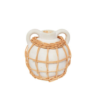 Candeliere ceramica deco rattan