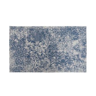 Tappeto bagno misto cotone effetto kilim