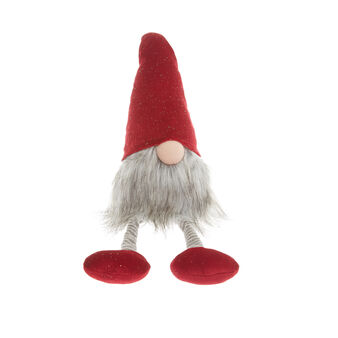 Decorative velvet gnome