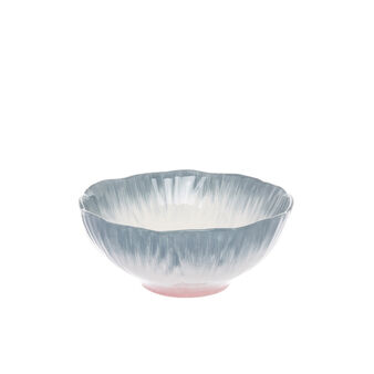 Small flower-shaped ceramic bowl