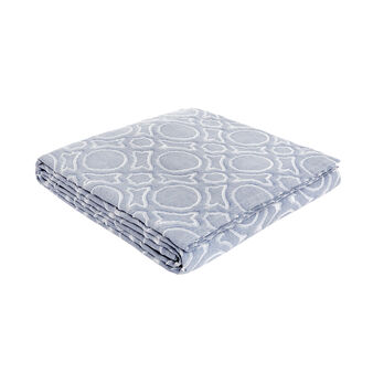 Bedspread in 100% cotton with circle motif