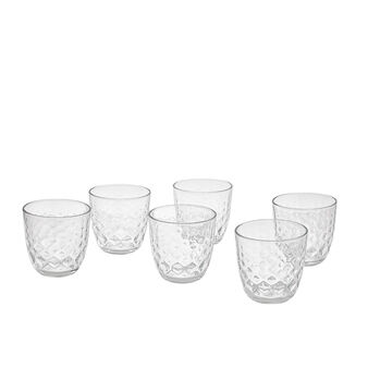 Set of 6 tumblers in Glitter glass