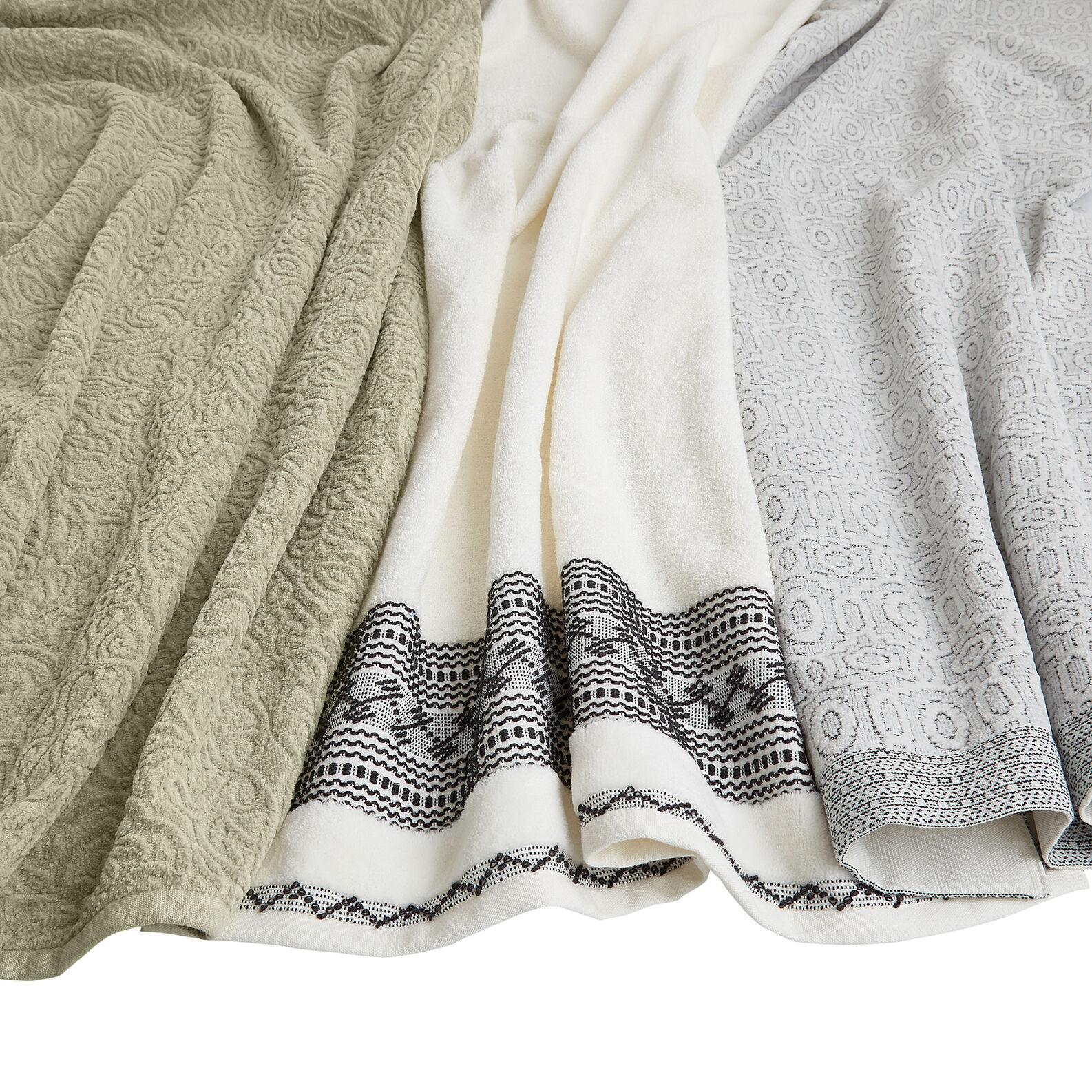 Asciugamano puro cotone jacquard ricamo