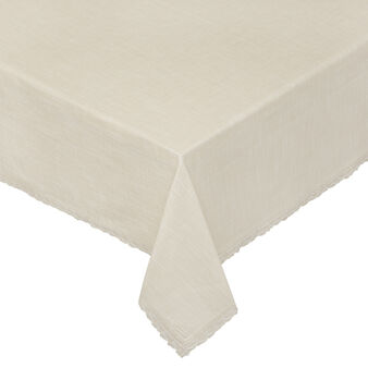 100% iridescent cotton tablecloth with lace