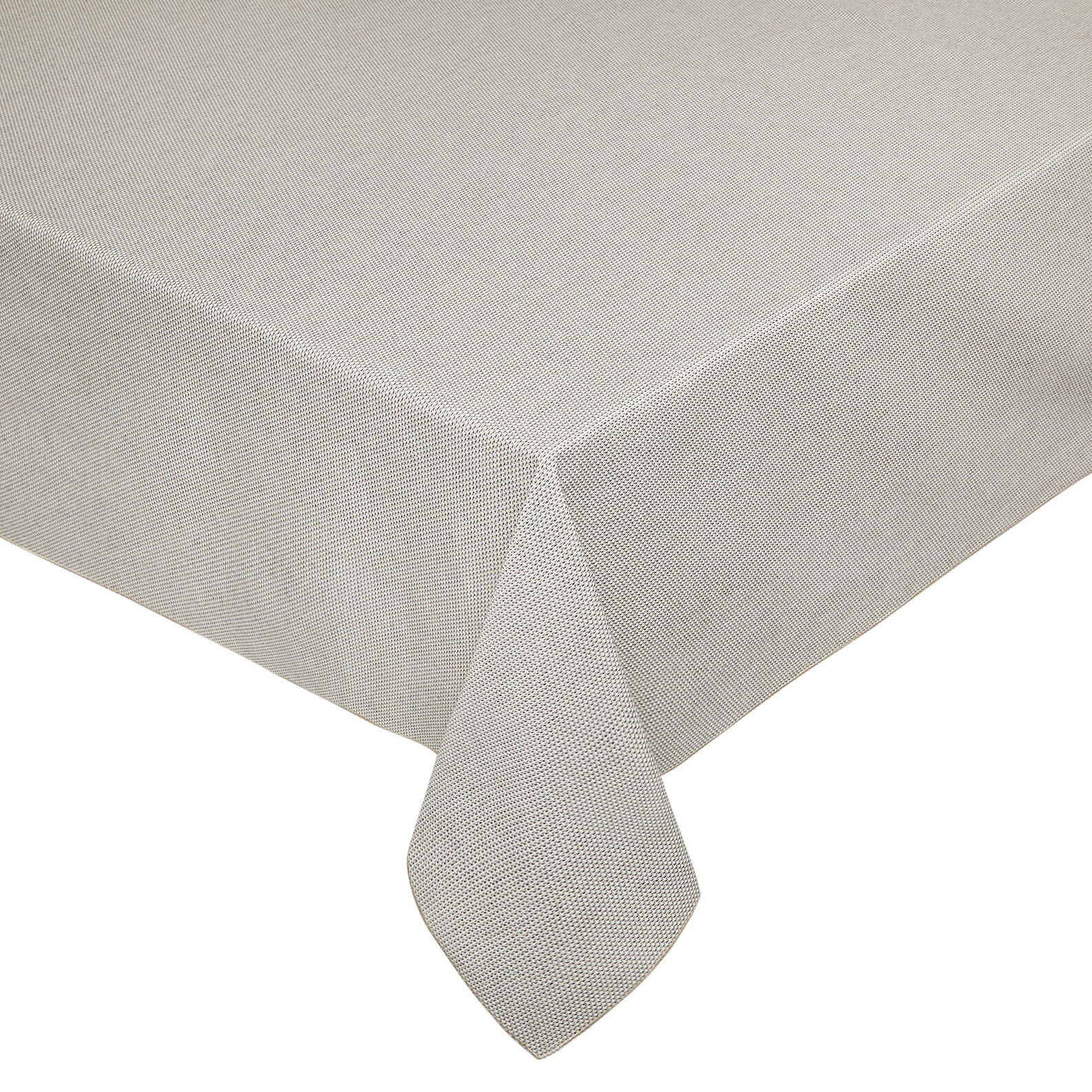 Spotted-effect cotton and lurex tablecloth