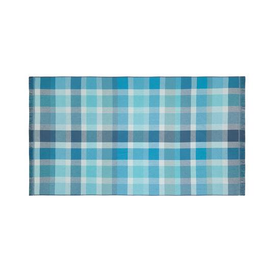 Check yarn-dyed cotton beach towel