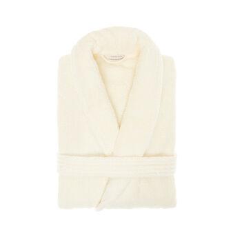 Bathrobe in 100% cotton with jacquard design