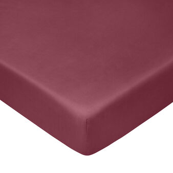 100% cotton percale fitted sheet