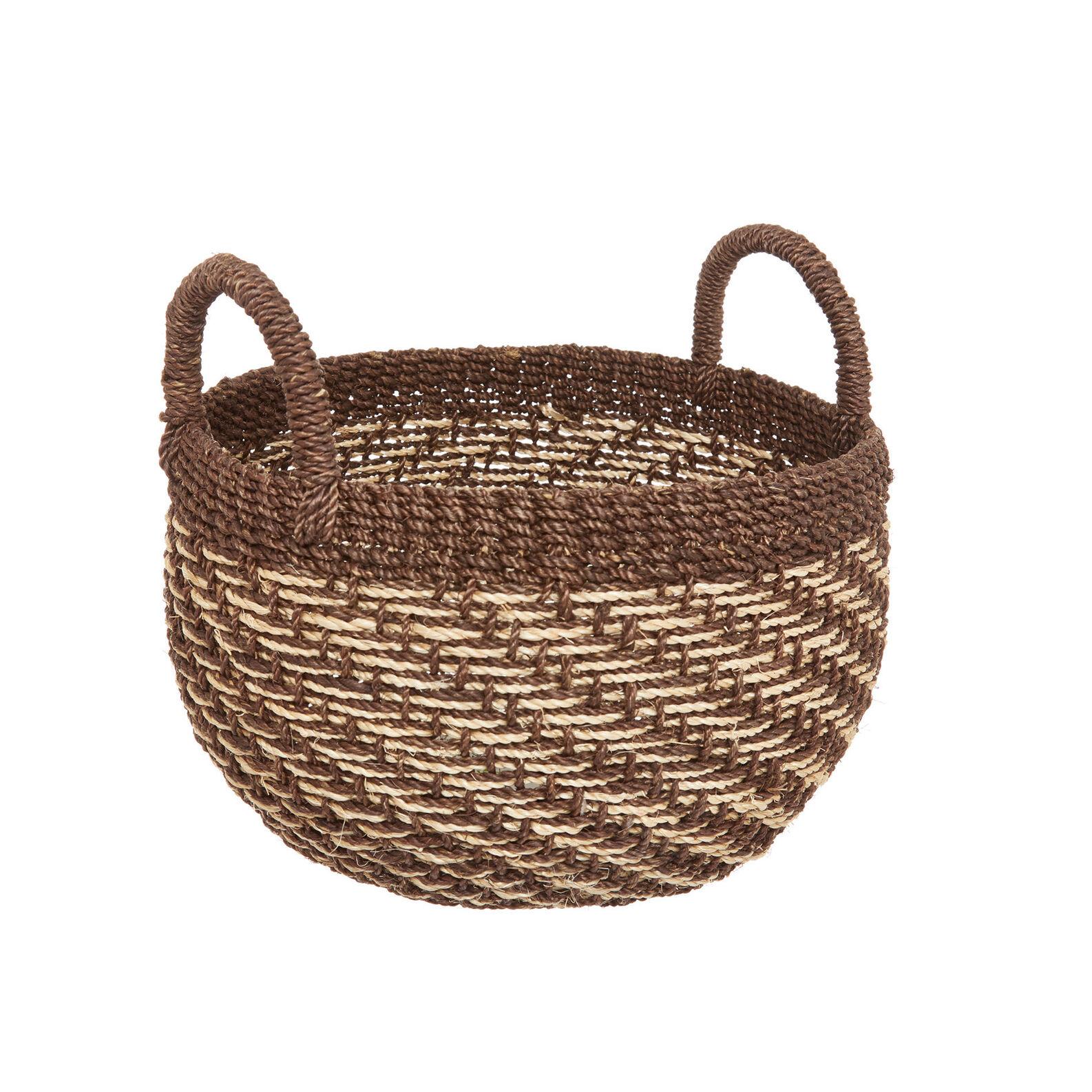 Hand-woven abaca basket