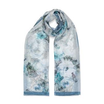 Koan rose print silk scarf