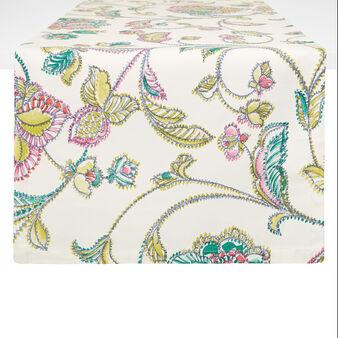 Runner puro cotone stampa floreale