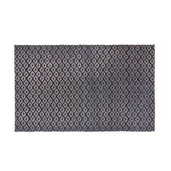 Cotton mat with geometric motif