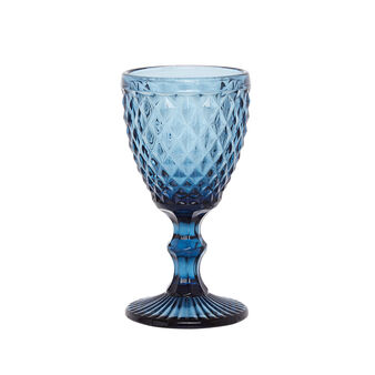 Decorated glass goblet