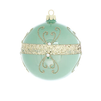 Hand-decorated glitter bauble