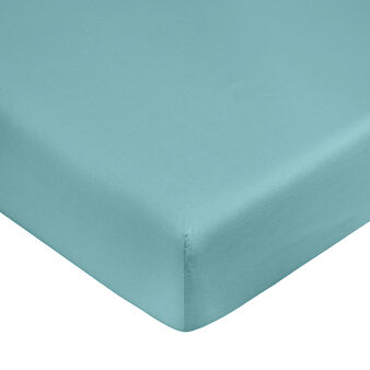 Solid colour fitted sheet in organic cotton