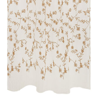 100% cotton curtain with flower embroidery