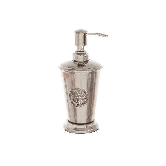Engraved steel soap dispenser