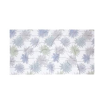 Beach towel in 100% cotton with palm print
