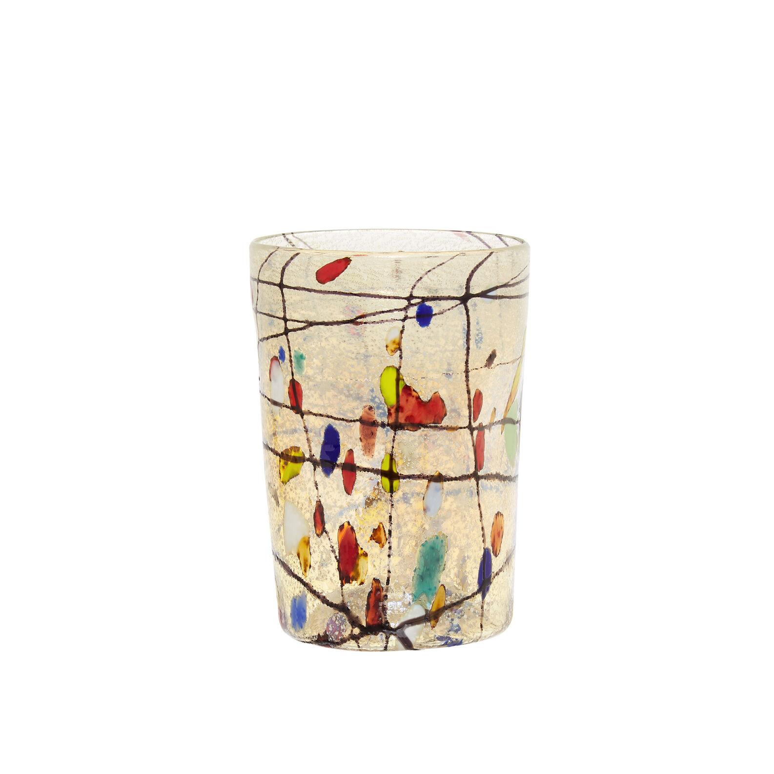 Bicchiere vetro di Murano decoro Kandinsky