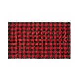 Check motif fabric mat