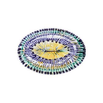 Piatto ovale ceramica di Grottaglie Nicola Fasano