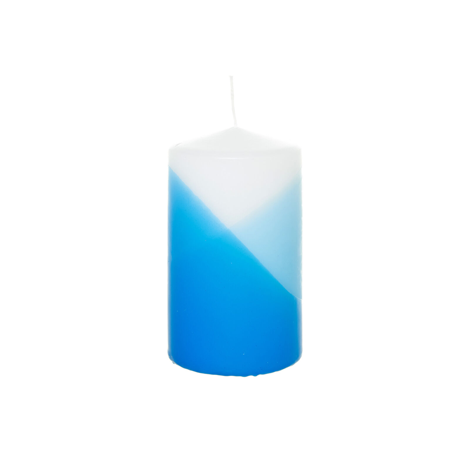 Blue-toned candle
