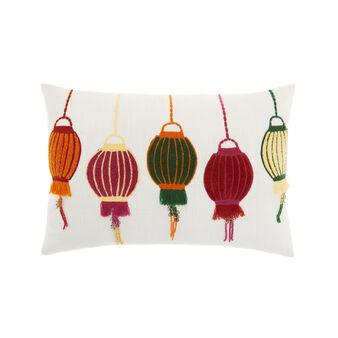 Cushion with lanterns motif 35x50cm