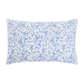 Cotton percale pillowcase with arabesque pattern