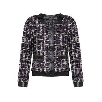 Viscose blend jacket with lurex
