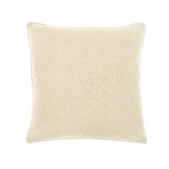 Embossed micro-embroidery cushion
