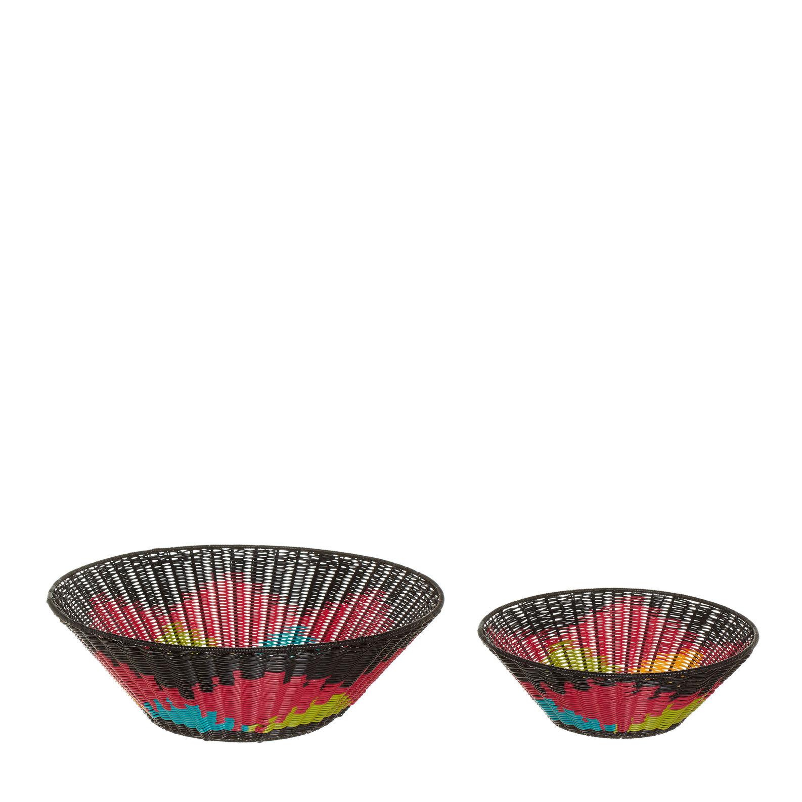 Multicoloured cane basket