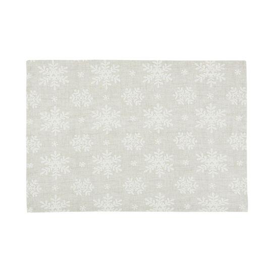 Set 2 tovagliette puro cotone stampa fiocchi di neve