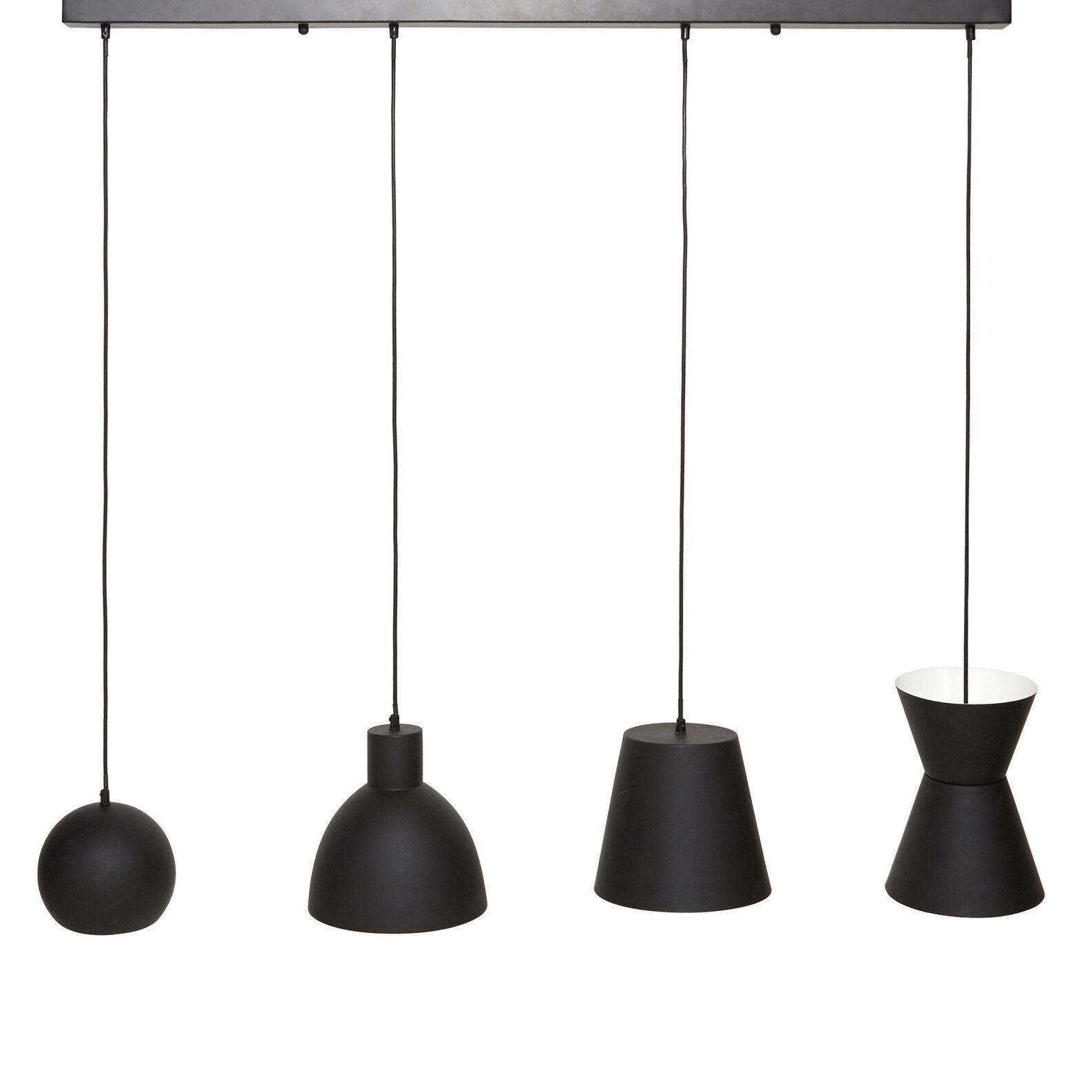 Suspension lamp 4 Black