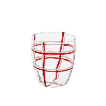 Set 6 bicchieri acqua in vetro colorato