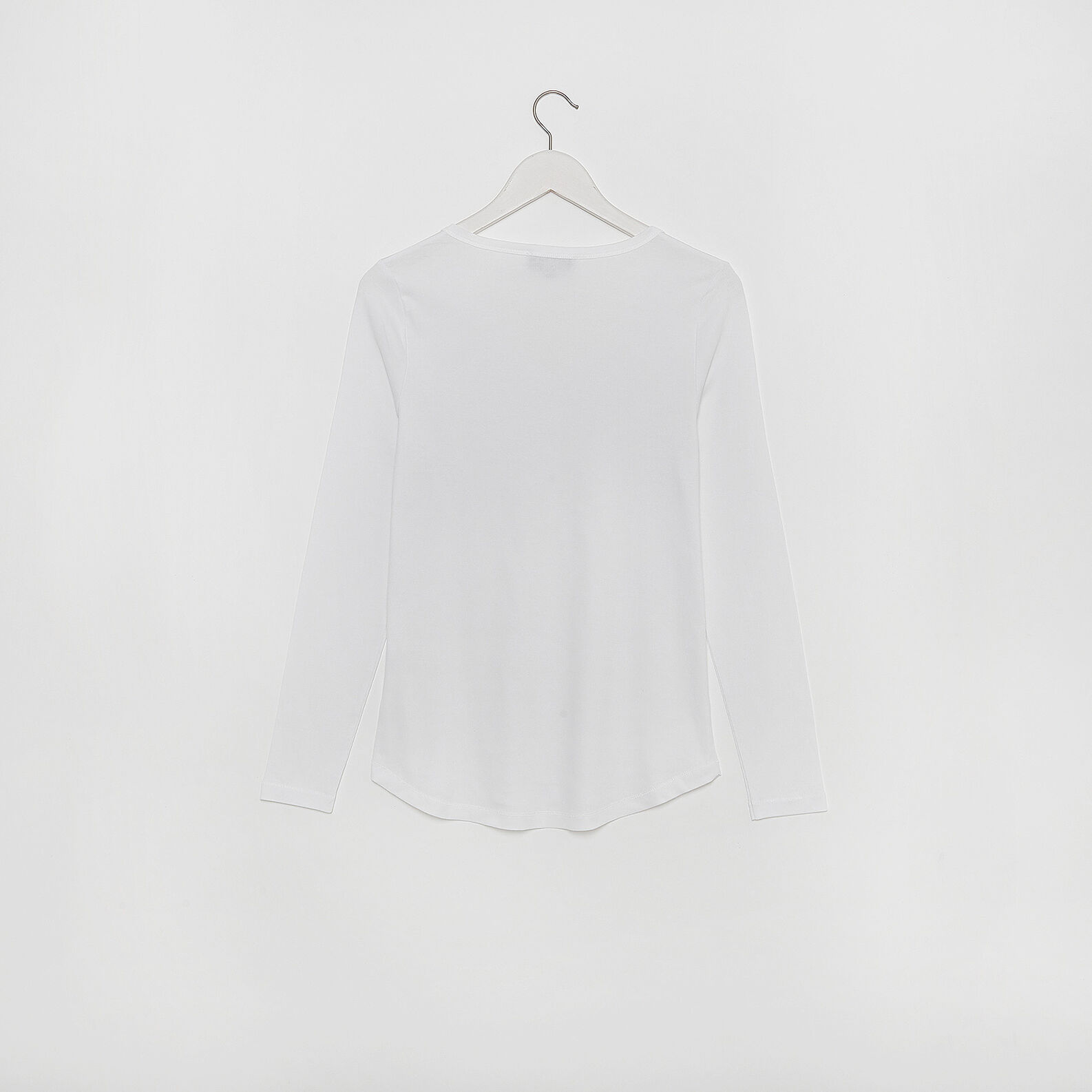 T-shirt in jersey di viscosa tinta unita