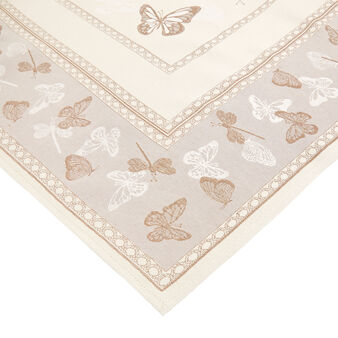Gobelin table cover with butterfly motif