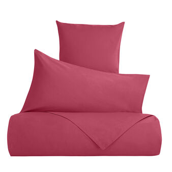 Solid colour bed linen set in 100% cotton
