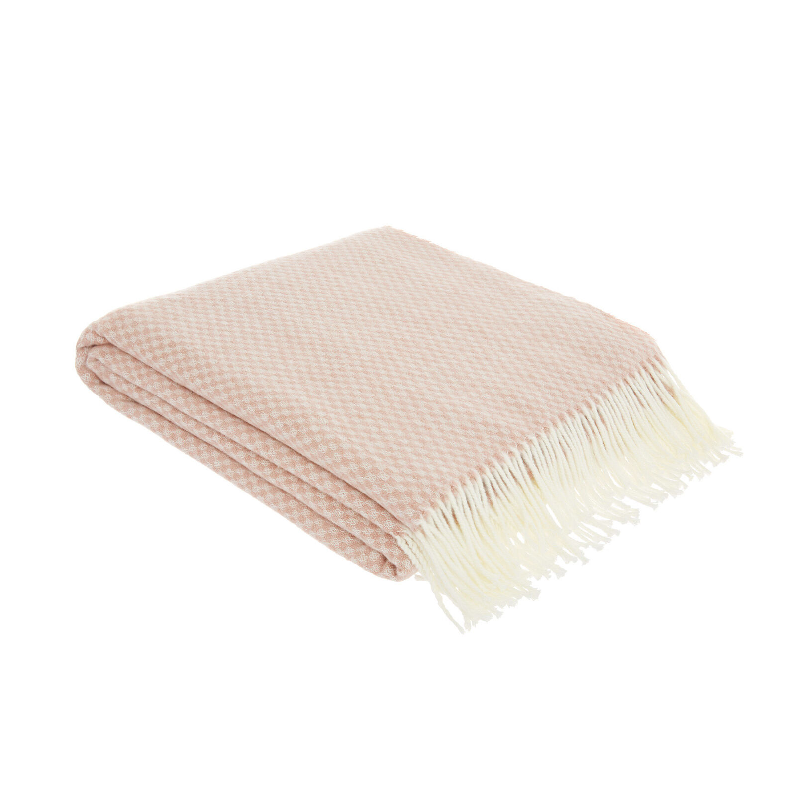 Cotton blend throw with geometric motif