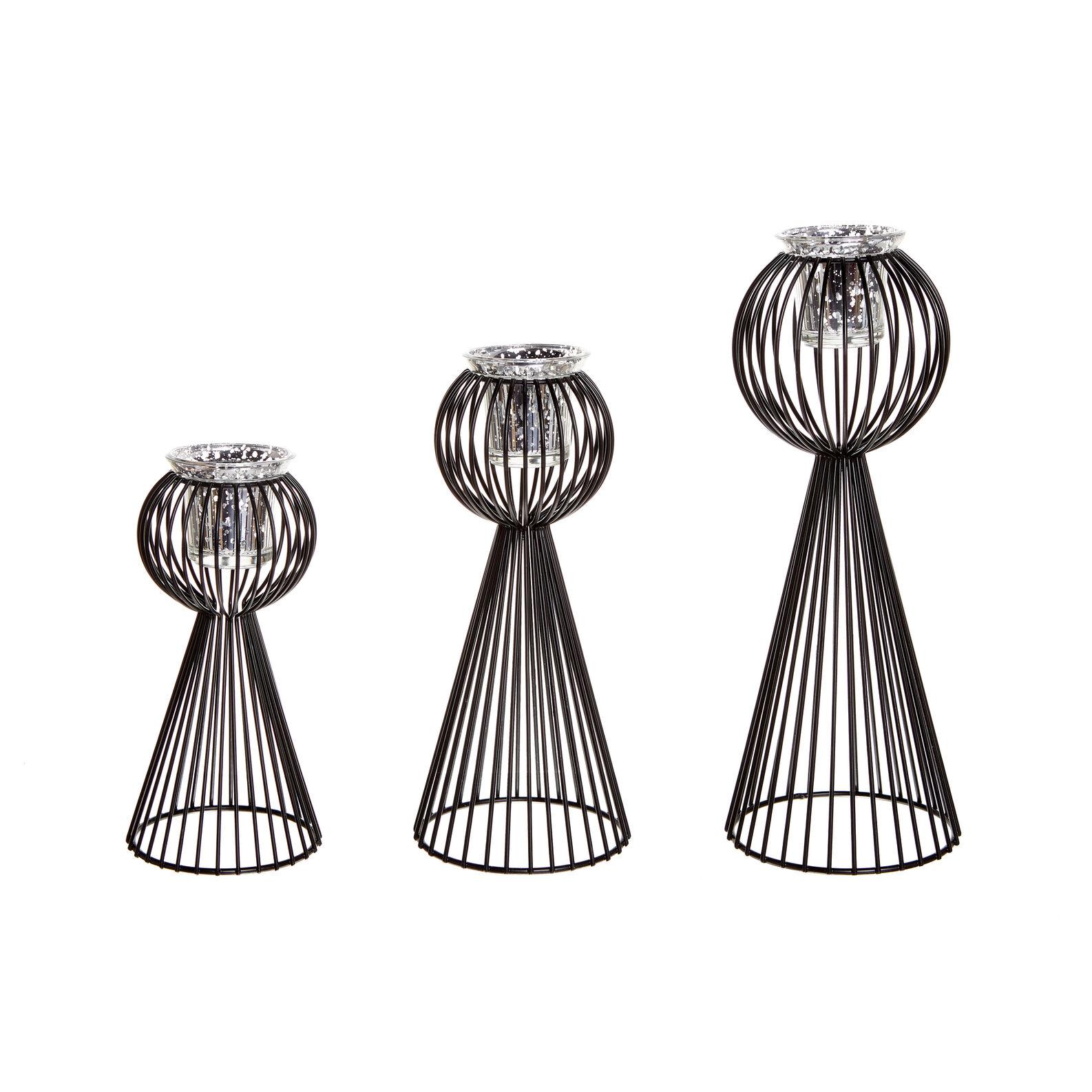 Candeliere in filo di ferro
