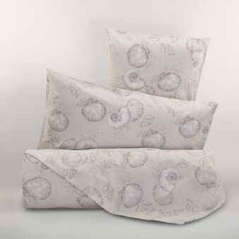 100% cotton percale shell duvet cover set