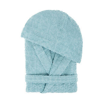 100% cotton jacquard bathrobe
