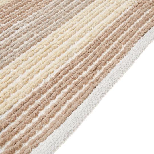 100% cotton striped bath mat